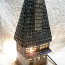 ♡家の形をしたランプ インテリア 陶器