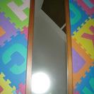 【値下げ】ミラー 鏡 姿見 全身鏡 木製フレーム 縦:94cm ...