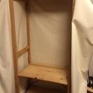 【無印良品】ワードローブ カバー付き [パイン材][ユニットシェルフ][衣類収納][組み立て][タンス]の画像