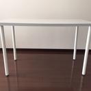 IKEAのテーブル(白・光沢あり)お売りします!(2500円)