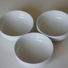 USED 無印良品 白磁浅鉢・小 3個セット