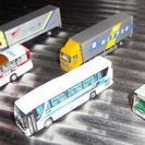 Nゲージサイズの自動車  トミーテックの模型トラック、バス(交渉中)