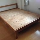 商談成立/ 【無印良品】木製ベッドフレーム/ダブル