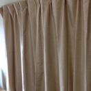 【終了】【無印良品】遮光カーテン/ダークベージュの画像