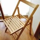 ※受付終了※【無印良品】パイン材の折りたたみテーブル・折りたたみチェア二脚セット - 家具