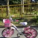 【中古】 女の子用14インチ自転車 差し上げます。