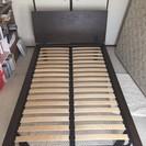 【終了】セミダブルの無印良品ベッドフレームとフランスベッドのマットレスの画像