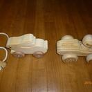 子供用木製(ウサギ・車)玩具 中古