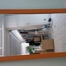 【急ぎ】大きな鏡 薄茶色