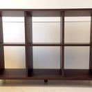 【無印良品MUJI】タモ材シェルフ(木製チェスト/キャビネット/収納棚)◆3列×2段◆ブラウン☆美品です☆  - 家具