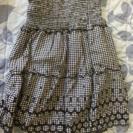 ギンガムチェックのスカート