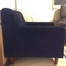 【値下げ】 ブラックの1人掛けソファ