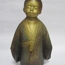 【無我童子】銅像◆置物◆オブジェ◆在銘◆骨董