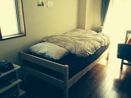 【無印良品】パイン材ベッド シングル - 家具