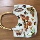 フランス製蝶のスパンコールバッグ