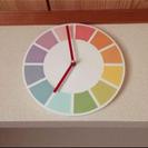 お洒落なカラフル掛け時計