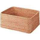 未使用、無印良品、重なるラタン長方形バスケット(中)×1、長方形ボックス(小)×2 - 京都市