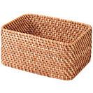 未使用、無印良品、重なるラタン長方形バスケット(中)×1、長方形ボックス(小)×2 - 生活雑貨