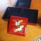 『値下げ‼︎』朱塗り 鶴の三段重