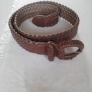 編み込みの茶色のベルト 未使用