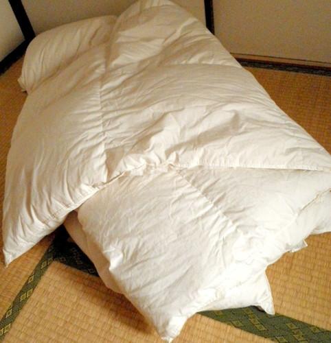 【シングルサイズ】無印良品羽毛布団・掛け布団の画像