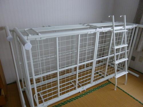 ニッセン購入パイプ式2段ベッド (とまんけし) 八雲のベッド《二段