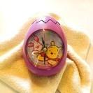 ≪終了≫【Disney】 卵形の目覚まし時計 (未使用品 / 新...