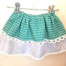夏休み企画 親子で楽しもう! 子供服作り 簡単2段スカート