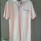 <取引成立・有難うございました>オレンジのポロシャツ メンズMサ...