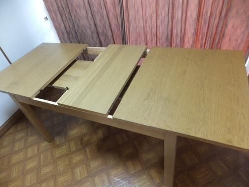 Ikea伸長式 ダイニングテーブル ちびまる 我孫子のテーブル