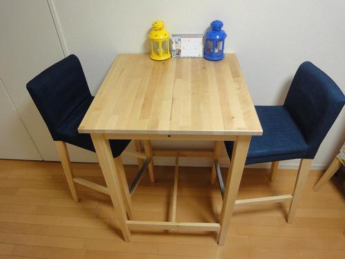IKEA☆ダイニングセット(二人用)/バーテーブル&バーチェアーの