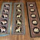 <お引取完了> タイの工芸品 : 象/獅子のタペストリー