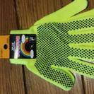 【新品】大掃除に!のびのび手袋、蛍光イエロー、新品