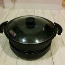 鍋、たこ焼きもできる円形ホットプレートです。