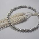 【数珠】真珠◆パール◆念珠◆6.5~7mm◆シルバーグレー