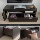 取引中 【〜10月末まで 引取限定】東京 引出し付 ローテーブル L字変更可能  - 家具