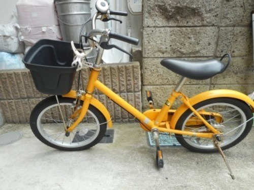 中古 子供用自転車 無印良品で購入の画像