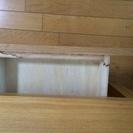 無印良品 タモ材ローテーブル 引き出し付き  取りにこれる方 - 家具