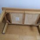 無印良品 タモ材ローテーブル 引き出し付き  取りにこれる方 − 埼玉県