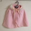 値下げ60〜75cm ピンクのポンチョ マント