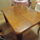 天然木折脚テーブル 脚を折りたたみして収納できるローテーブル・座卓...