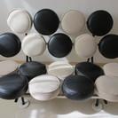 マシュマロソファ デザイナーズ家具 白×黒レザーの画像