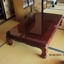 大きめの座卓・キッチンテーブル・茶ダンス差し上げます。(キッチンテ...