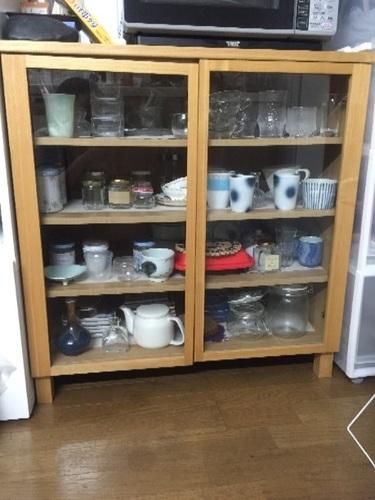 無印良品の食器棚の画像