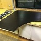 IKEA LINNMON コーナーテーブルトップ ブラックブラウン