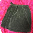 光沢のあるスカート