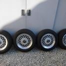 BBSアルミホイールとバリ山タイヤ四本セット