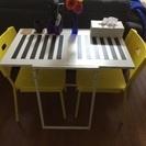IKEA折り畳み式ダイニングテーブルセット