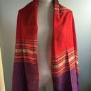 新品 ショール兼スカーフ 赤