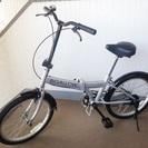 交渉成立☆20インチ折畳み自転車【BIGALLOW】シルバー/ブ...